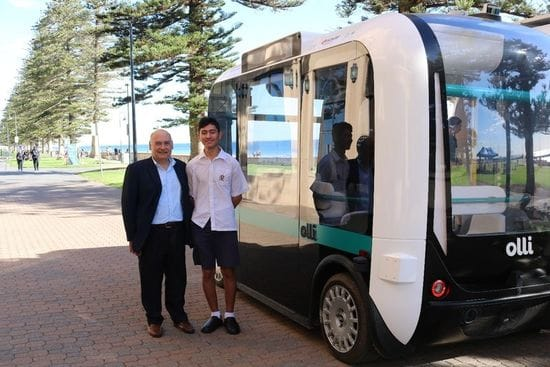 School connection sparks opportunity for Year 12 student to investigate the impact of Autonomous Vehicles