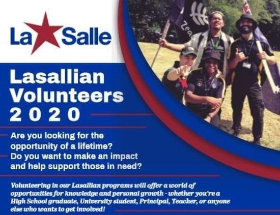 Apply Now - Lasallian Volunteer 2020