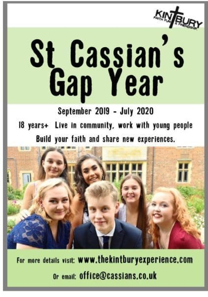 St Cassian's Gap Year - Build your faith and share new experiences