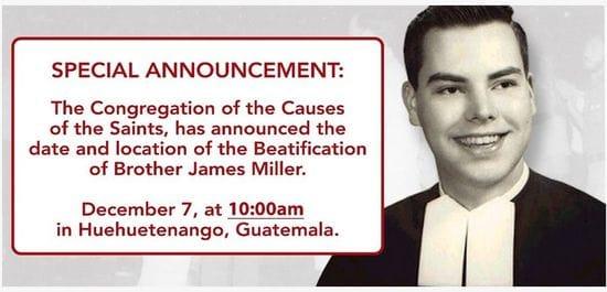 Beatification of Br James Miller