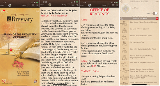Lasallian Liturgical Texts Now Available in App