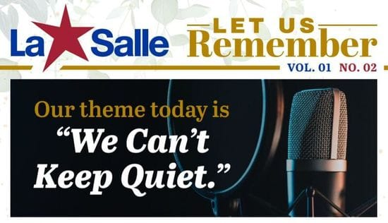 "Resource: Let us Remember Reflection - ""We can't keep quiet"""