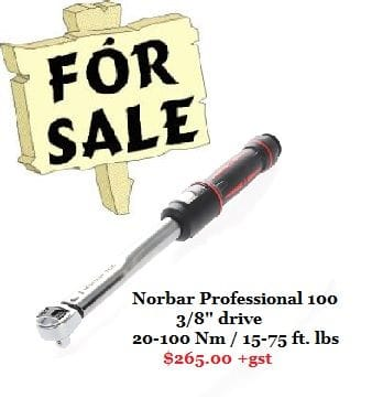15014 Norbar Professional Series 100 20-100 Nm, 15-75 ft. lbs