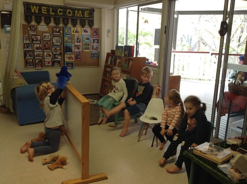 Lots of wonderful spontaneous language and literacy opportunities occurring in our Kindy room today.
