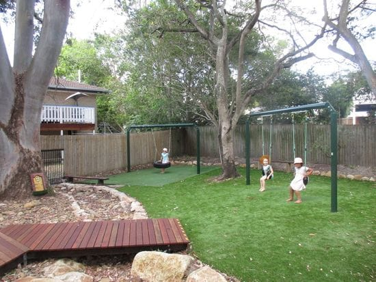 Look at our new swing area!