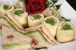Sandwiches, variety of shapes and fillings