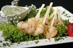 Prawns with green goddess dipping sauce