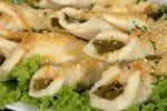 Aspragus Blue Cheese Toasted Rolls - in season