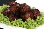 Beef Polpettini with a plum dipping sauce