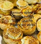 Mixed Savoury(Chose one in notes: Sausage Roll,Mince ,Baby quiche,Pastry Vol Vent ) )