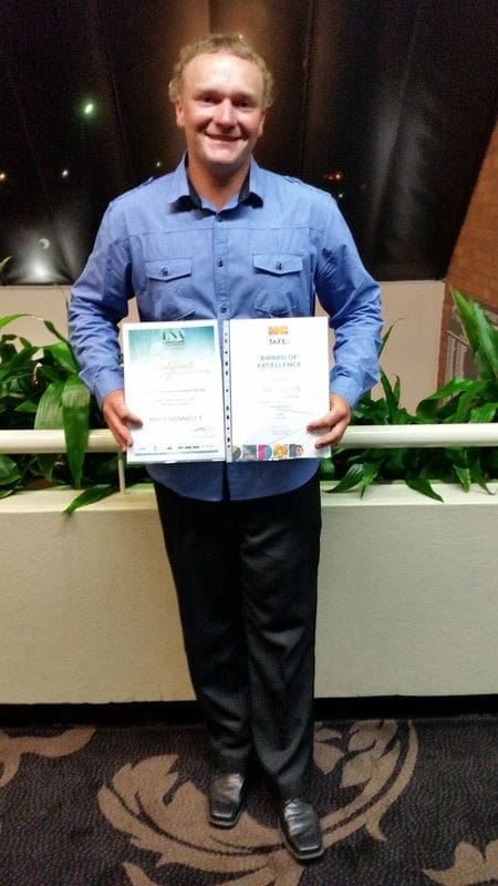 Introducing Rhys Donnelly, North Coast Institute of TAFE Wollongbar Campus' Landscaping Apprentice of the Year