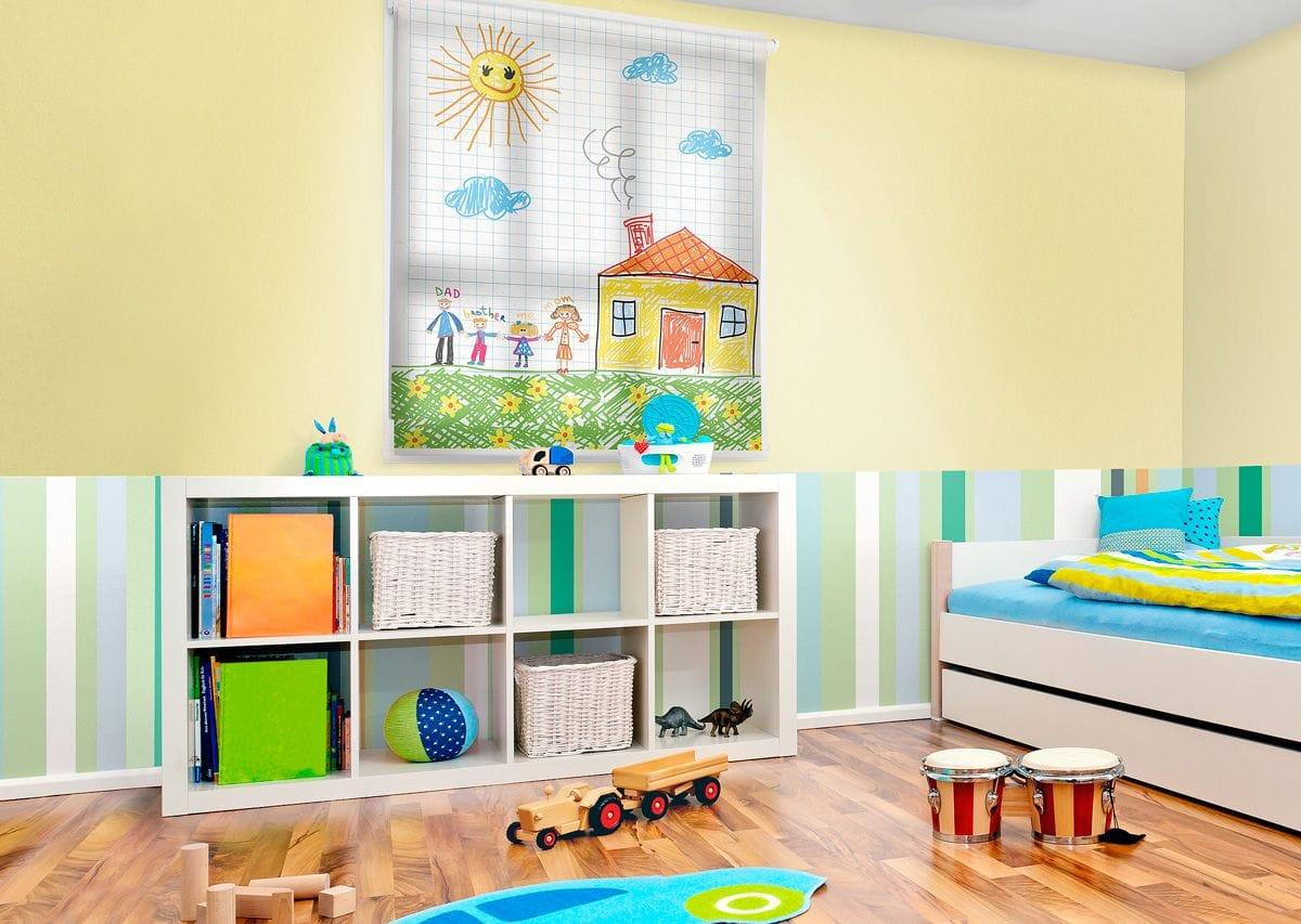 Print a favourite picture, place or character on a blind to ad a special touch to your child's bedroom or the play room