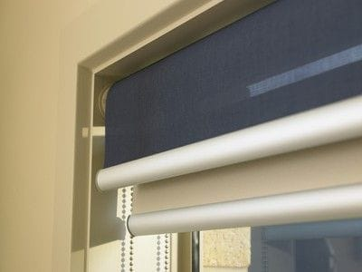 Day/Night or dual roller blinds where two blinds within one window - one light screen blind for day and one blockout blind