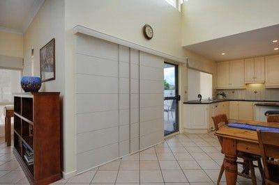 Panel blinds. Blockout. Sliding door.