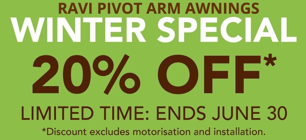 Ravi Pivot Arm Awning Special