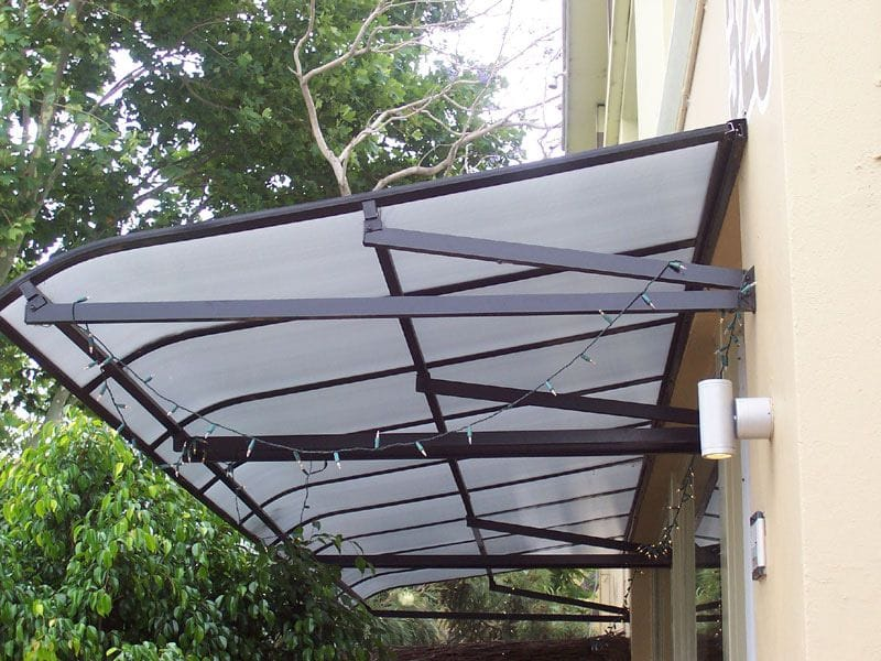 Fixed Awnings offer weather protection for doors and windows with a range of fabrics, styles and colours