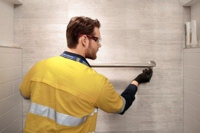 Installing a hand rail