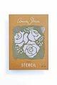 Thumbnail A4 Roses Stencil