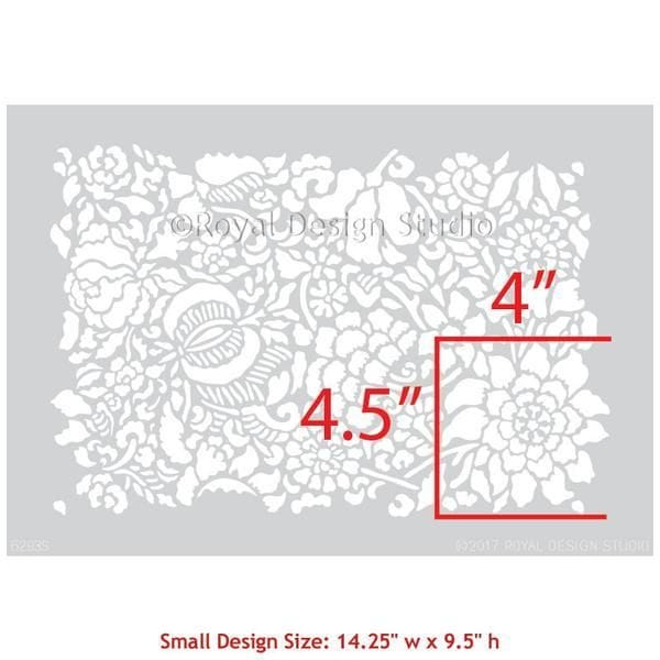 Thumbnail Francesca Floral Damask Furniture Stencil