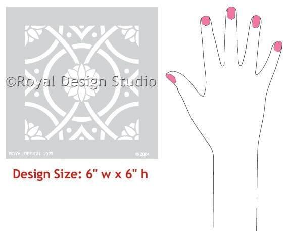 Thumbnail Eastern Tile Stencil