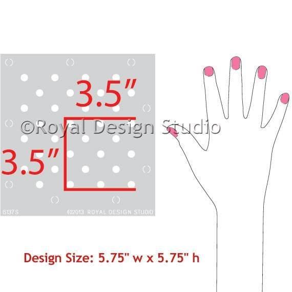 Thumbnail Polka Party Furniture Stencil
