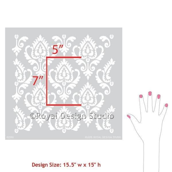 Thumbnail Anika Ikat Damask Furniture Stencil