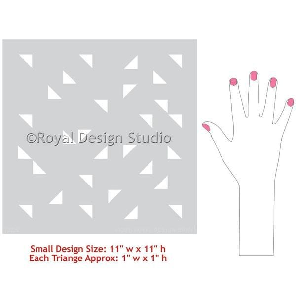 Thumbnail Aztec Triangles Raven + Lily Furniture Stencil