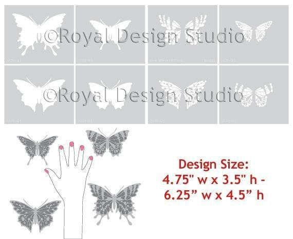 Thumbnail Papillon Butterfly Stencil Set