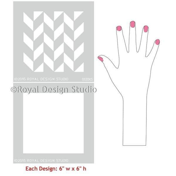 Thumbnail Herringbone Pattern Craft Stencil