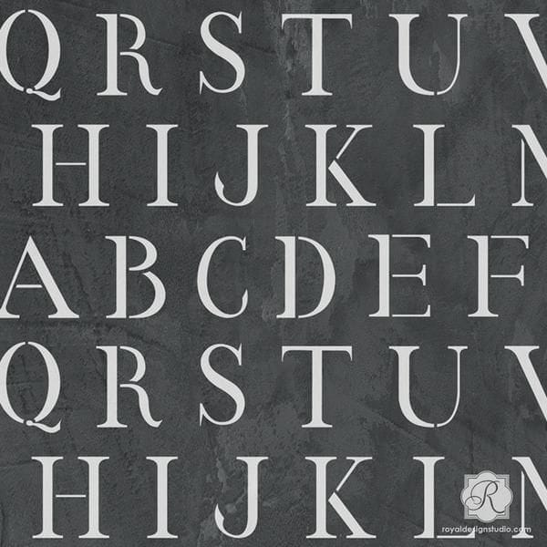 Thumbnail Classic Letter Stencil