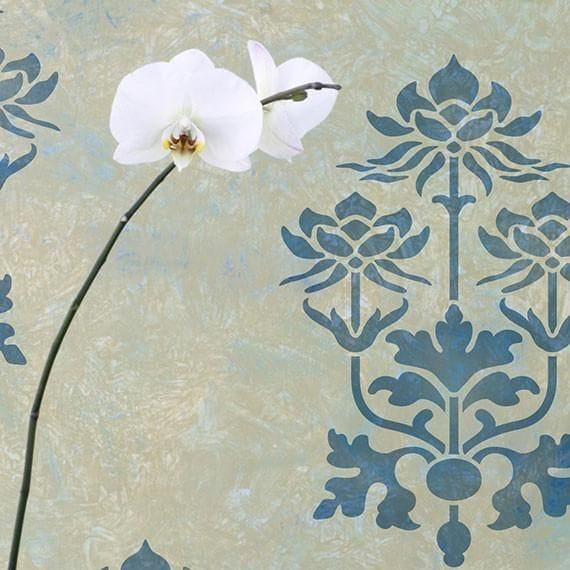 Thumbnail Kamal Lotus Flower Stencil