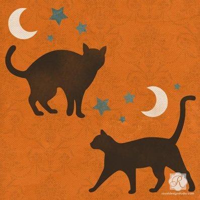 Stray Cat Stencil