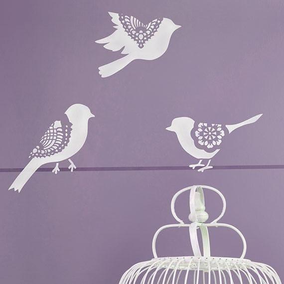 Thumbnail Sweet Tweets Lace Bird Set A - Large