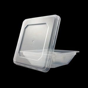 300ml Square Retail Tub + Lid