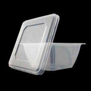 500ml Square Retail Tub + Lid