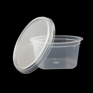 200ml Round Retail Tub with Cut Sides