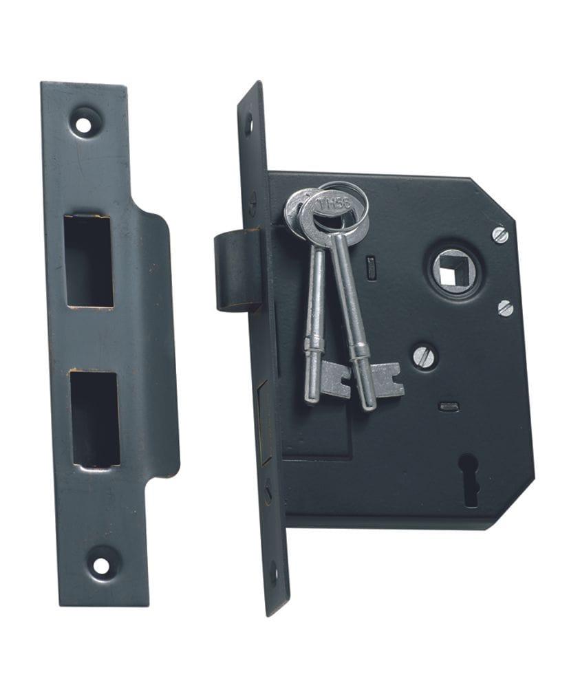 3 Lever Mortice Lock Antique Copper1141
