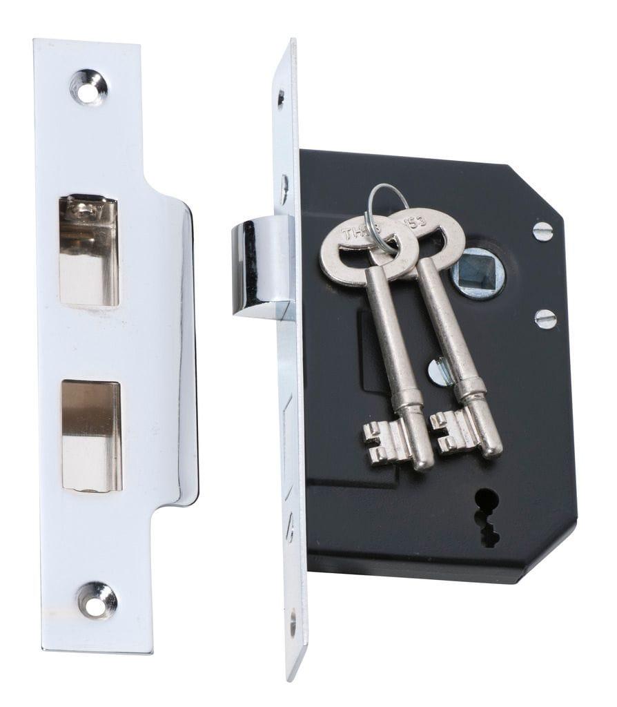 3 Lever Mortice Lock Chrome2210