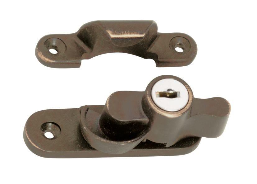Sash Fastener - Key Operated Antique Brass2307