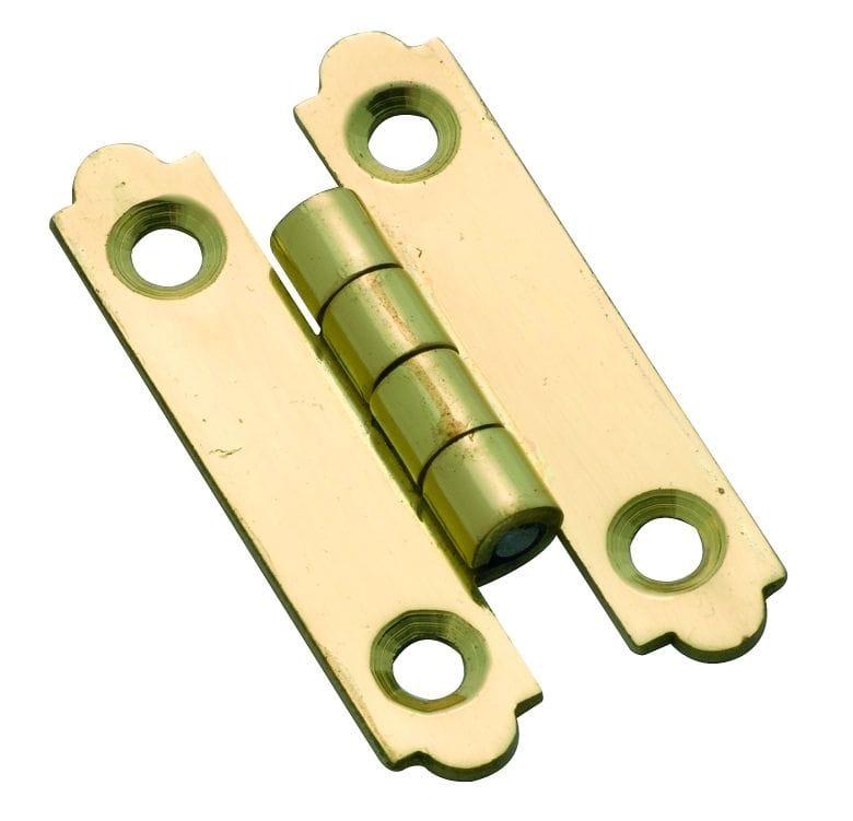 'H' Hinge Polished Brass3722
