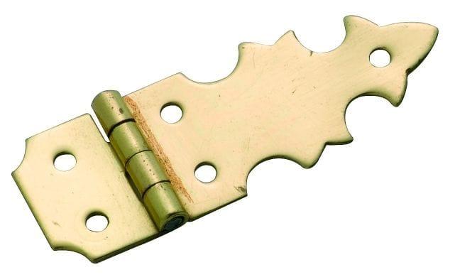 Box Hinge (Pair) Polished Brass3723