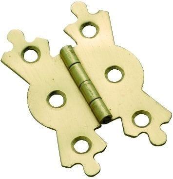 Fancy Hinge Polished Brass 38mm x 53mm3766