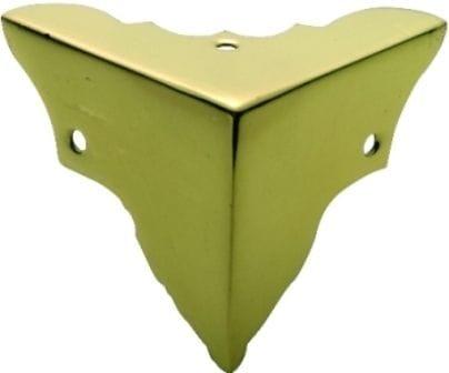 Large Box Corner Polished Brass3861