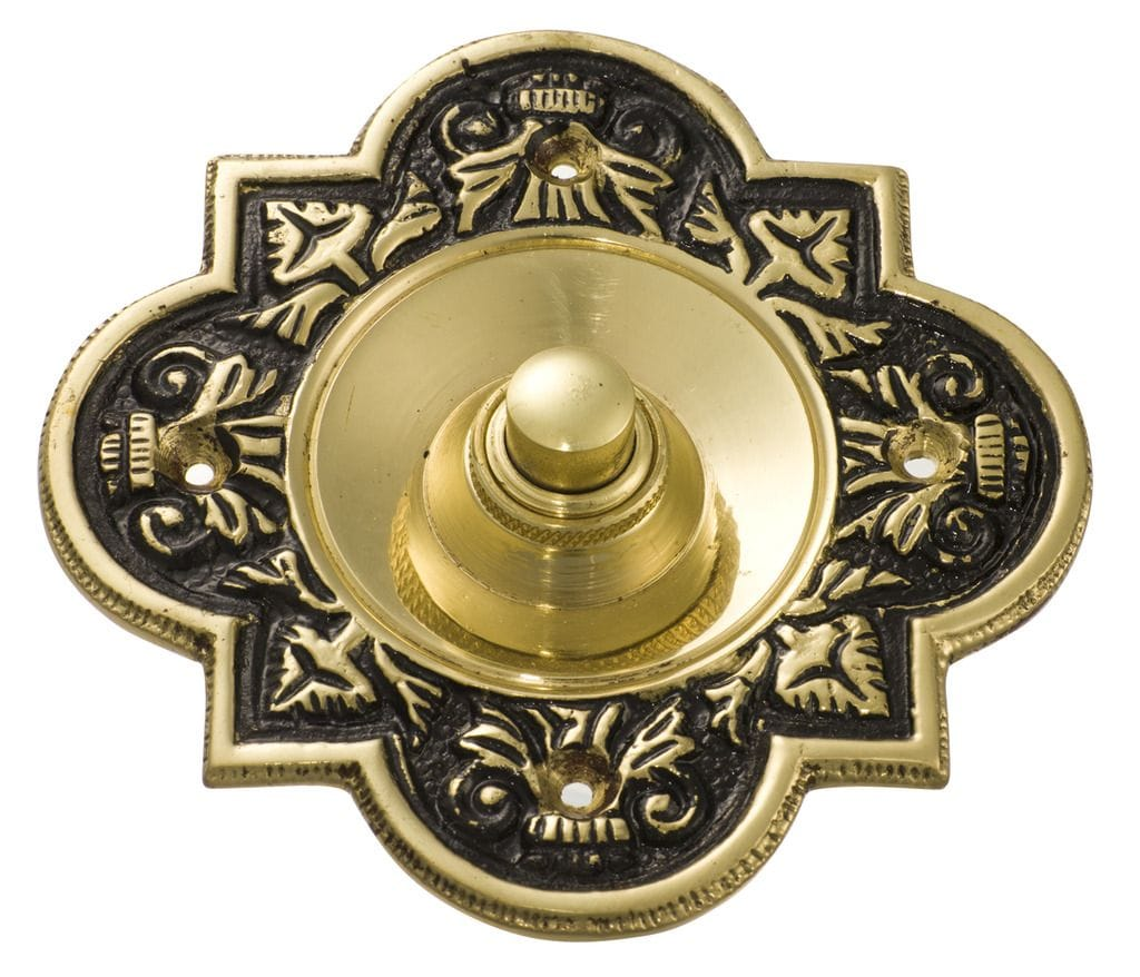 Bell Push Polished Brass/Black Background5502