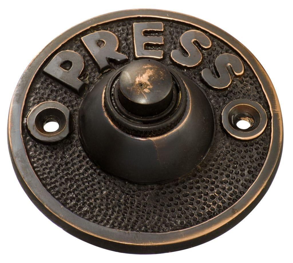Bell Push 'Press' Antique Copper5513