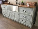 Kitchen Bench with Apron Front Sink0001