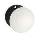 Mortice Knob White Porcelain/Black Zinc