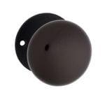 Mortice Knob Brown Porcelain/Black Zinc