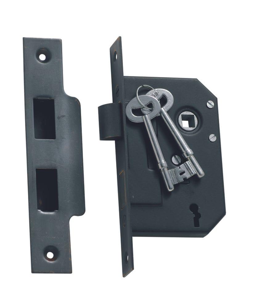 3 Lever Mortice Lock Antique Copper1140