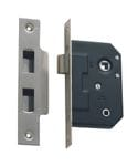 Privacy Mortice Lock Satin Chrome